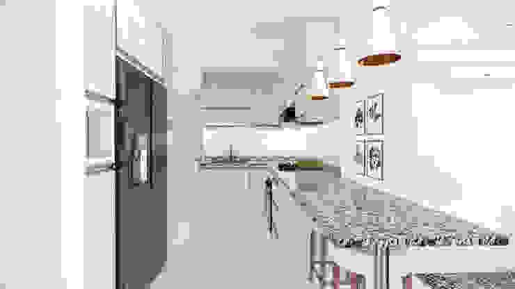 Cocina. de DIKTURE Arquitectura + Diseño Interior Moderno Madera Acabado en madera