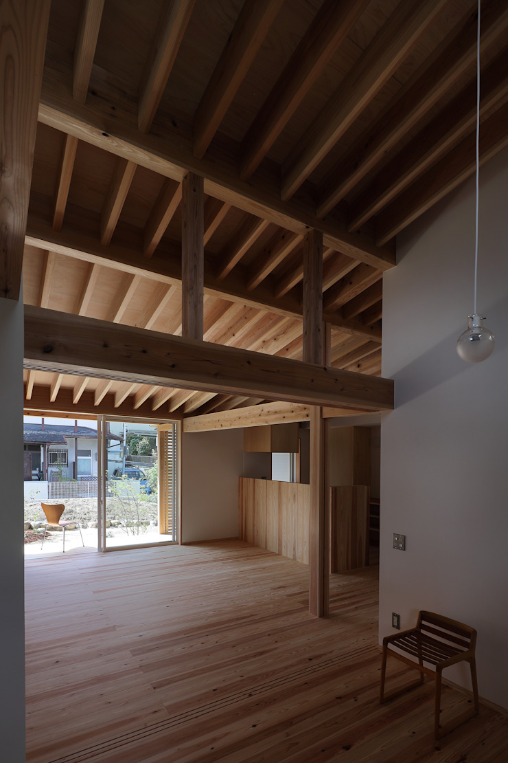 Rustic style bedroom by 芦田成人建築設計事務所 Rustic Wood Wood effect