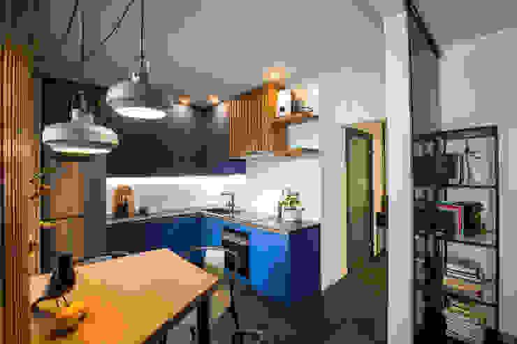J.Lykasova Small kitchens Wood Blue