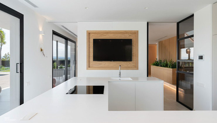 Proyecto interiorismo y arquitectura de un unifamiliar en Carlet, Valencia Cocinas de estilo minimalista de Ideas Interiorismo Exclusivo, SLU Minimalista