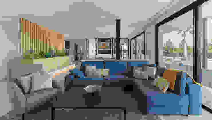 Proyecto interiorismo y arquitectura de un unifamiliar en Carlet, Valencia Salas de estilo minimalista de Ideas Interiorismo Exclusivo, SLU Minimalista
