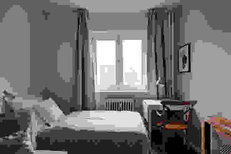 Schlafbereich im gemütlichen Wohnzimmer Lux-Design-Living Kleines Schlafzimmer