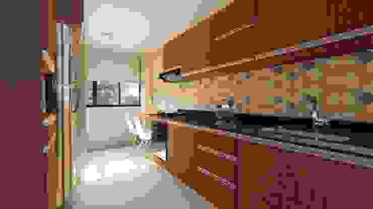 Diseño interior - cocina de DIKTURE Arquitectura + Diseño Interior Moderno Madera Acabado en madera