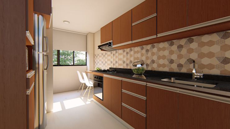 Diseño interior - cocina DIKTURE Arquitectura + Diseño Interior Cocinas equipadas Madera Acabado en madera
