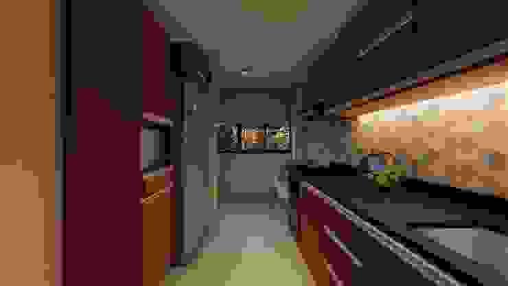 Diseño interior - cocina noche. de DIKTURE Arquitectura + Diseño Interior Moderno Granito