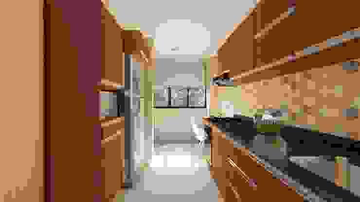 Diseño interior - cocina Día. de DIKTURE Arquitectura + Diseño Interior Moderno Madera Acabado en madera