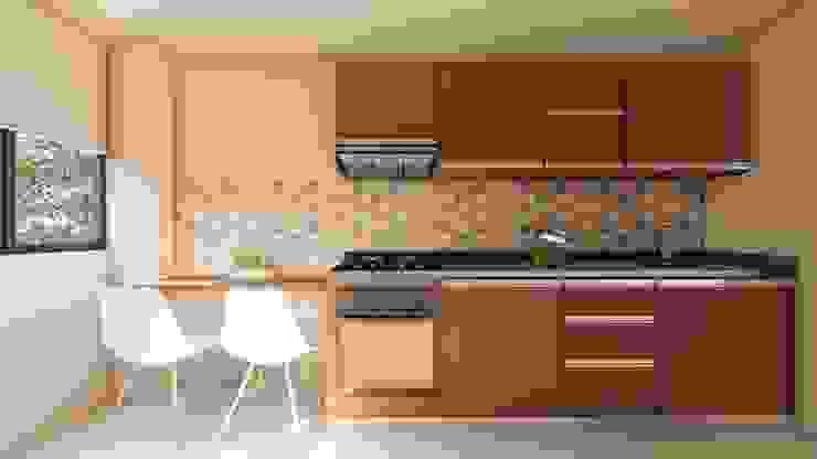 Diseño interior - cocina. de DIKTURE Arquitectura + Diseño Interior Moderno Madera Acabado en madera