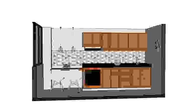 Diseño interior - cocina. de DIKTURE Arquitectura + Diseño Interior Moderno