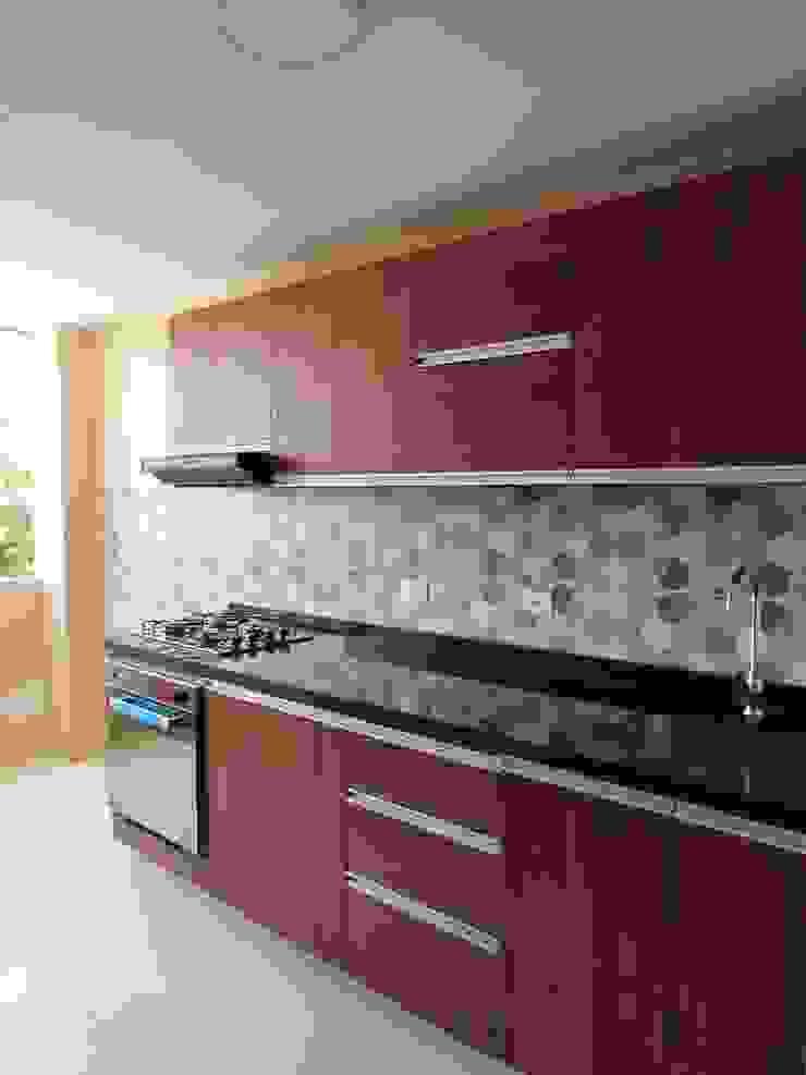 Resultado Diseño interior - cocina. de DIKTURE Arquitectura + Diseño Interior Moderno Madera Acabado en madera