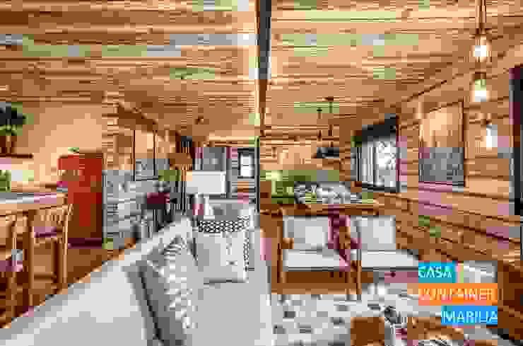 Sala de Estar Salas de estar campestres por Casa Container Marilia - Barros Assuane Arquitetura Campestre