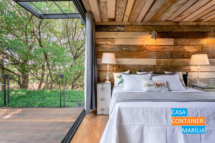 Country style bedroom by Casa Container Marilia - Arquitetura em Container Country