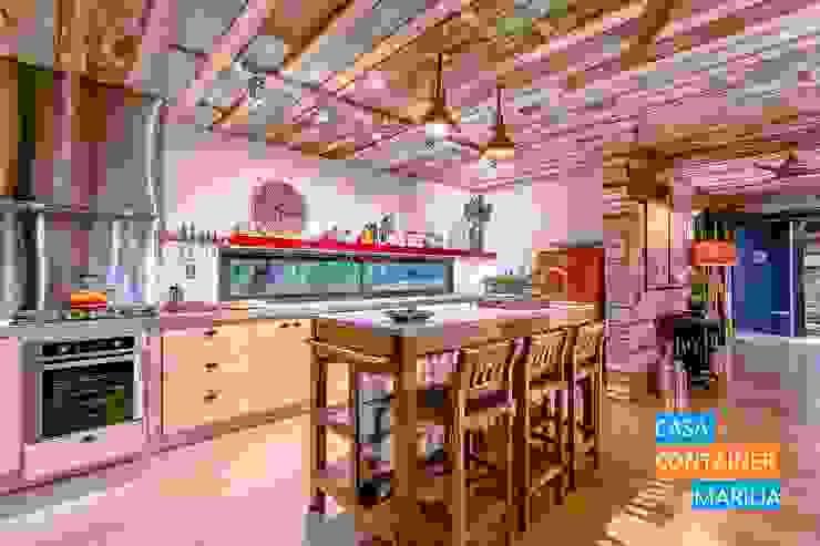 Cozinha Cozinhas campestres por Casa Container Marilia - Barros Assuane Arquitetura Campestre