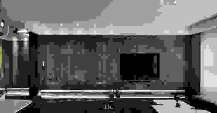 Living In A Unique Art 台北于宅 现代客厅設計點子、靈感 & 圖片 根據 WID建築室內設計事務所 Architecture & Interior Design 現代風
