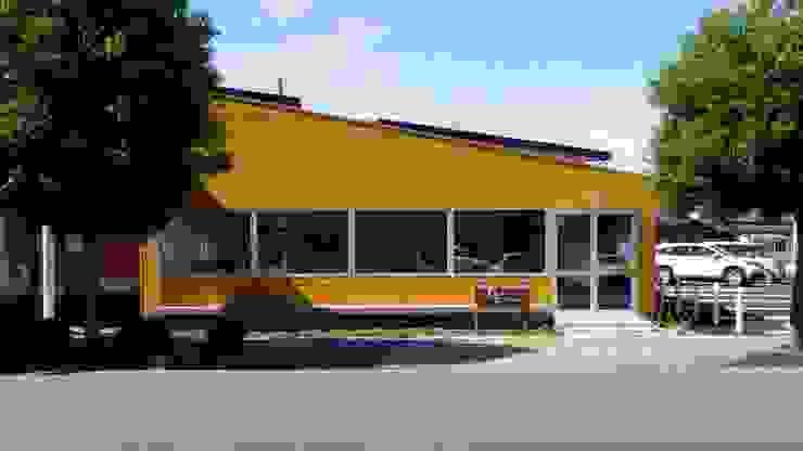 Espaces commerciaux originaux par ピークスタジオ一級建築士事務所 Éclectique Bois Effet bois