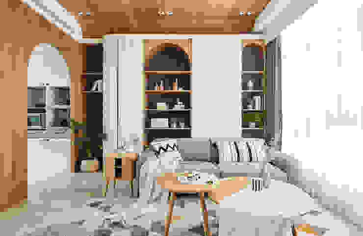 沙發背牆 根據 禾宇室內設計 北歐風 木頭 Wood effect