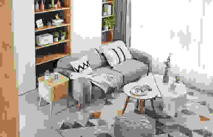 沙發區 根據 禾宇室內設計 北歐風 木頭 Wood effect