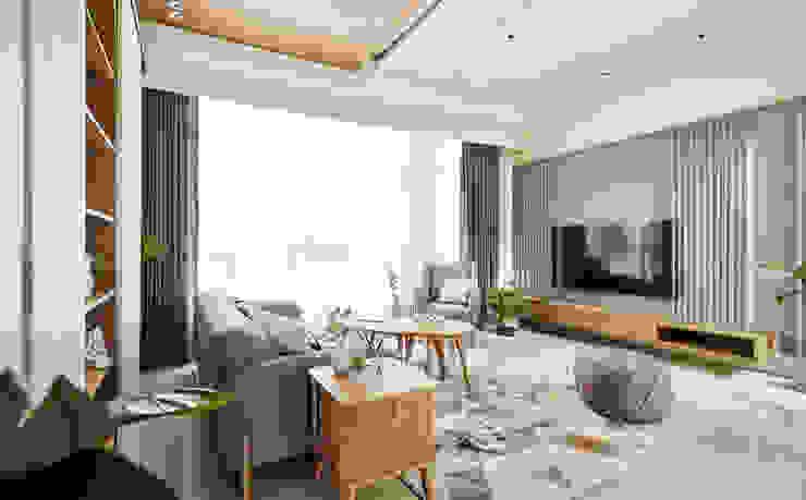 客廳 根據 禾宇室內設計 北歐風 木頭 Wood effect