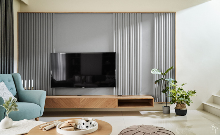 電視牆 根據 禾宇室內設計 北歐風 木頭 Wood effect