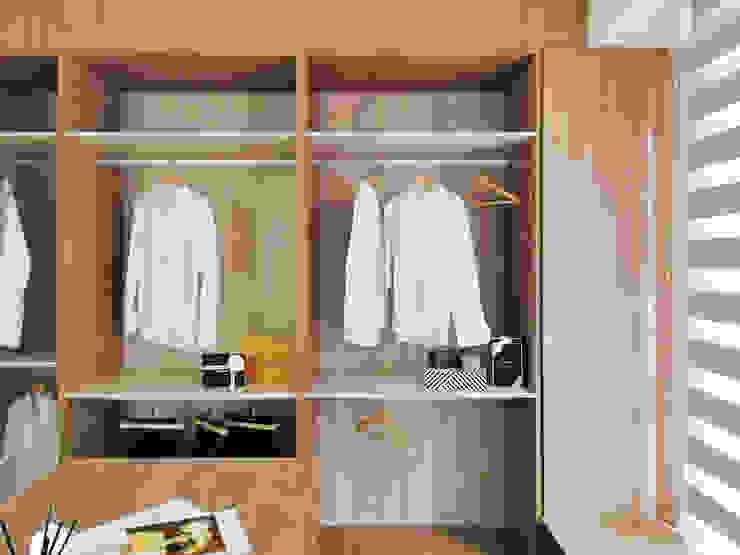 更衣室 根據 禾宇室內設計 北歐風 木頭 Wood effect