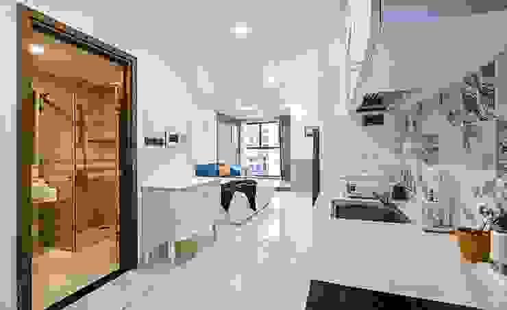 Phòng bếp căn hộ: hiện đại  by GIABAOGROUP, Hiện đại Gỗ Wood effect