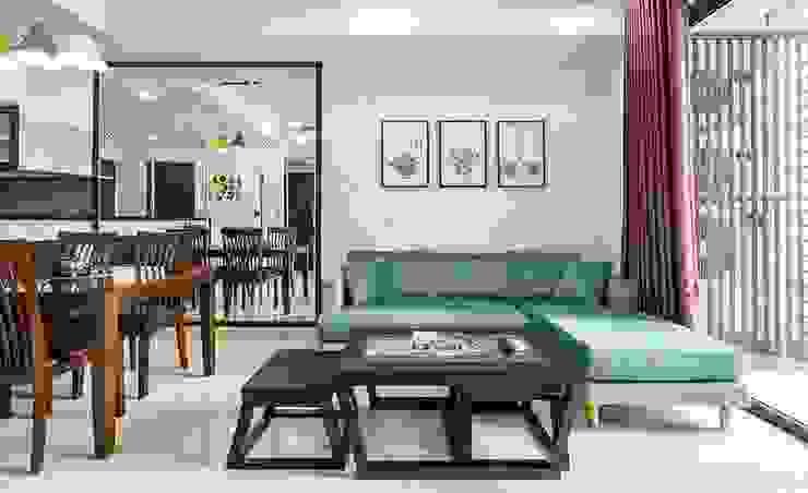 Phòng khách căn hộ: hiện đại  by GIABAOGROUP, Hiện đại Gỗ Wood effect