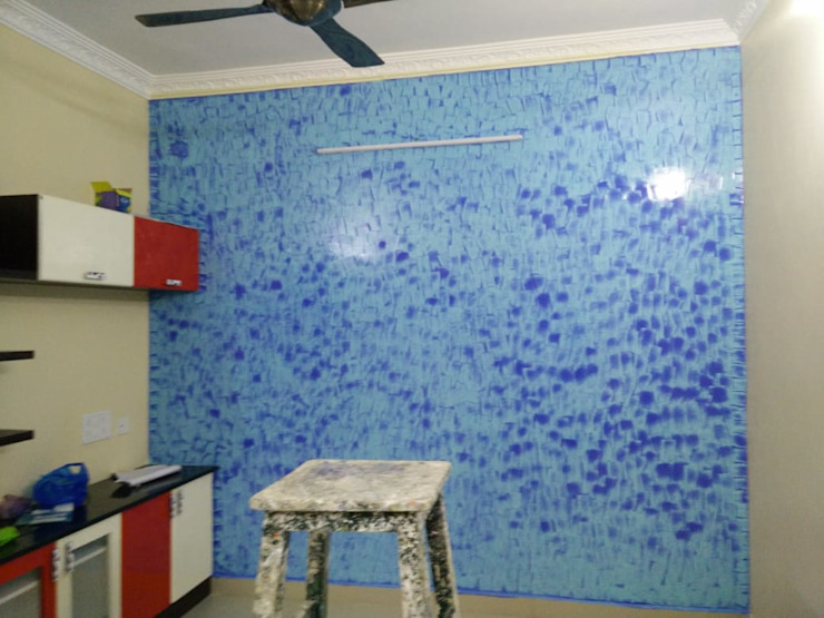 Living wall painting: classic  by Ajith interiors,Classic Concrete