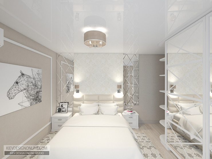 Modern Bedroom by Kiev Design Online Studio Modern