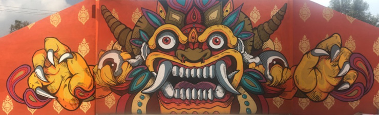 Mural de Barong by BARRAGAN ARQUITECTOS Asian