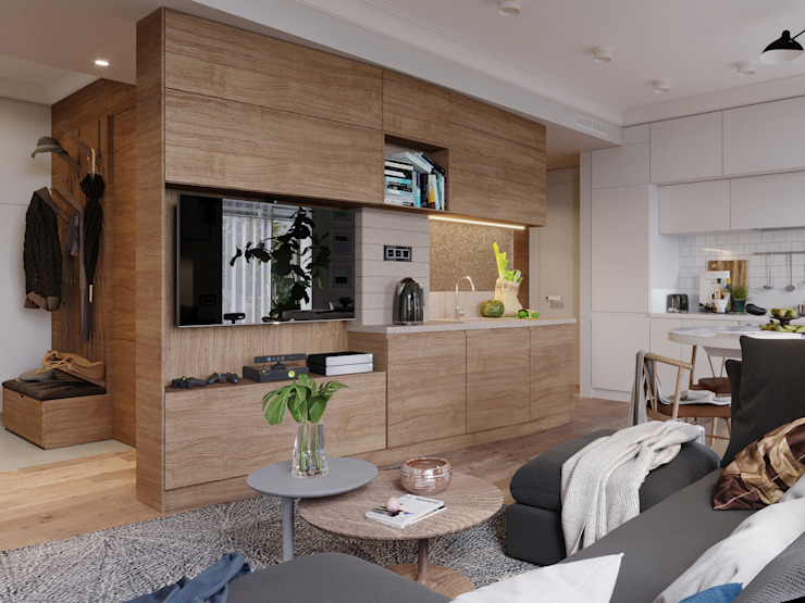 Scandinavian style living room by Vashantsev Nik Scandinavian