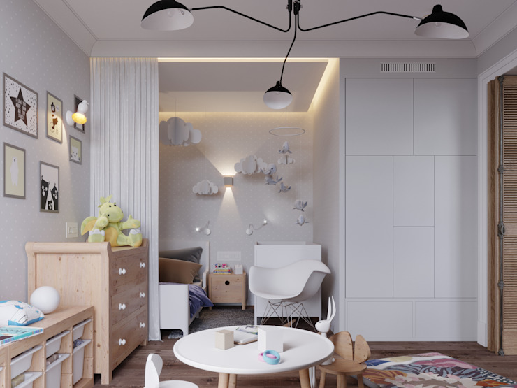 Scandinavian style nursery/kids room by Vashantsev Nik Scandinavian