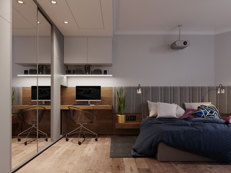 Scandinavian style bedroom by Vashantsev Nik Scandinavian