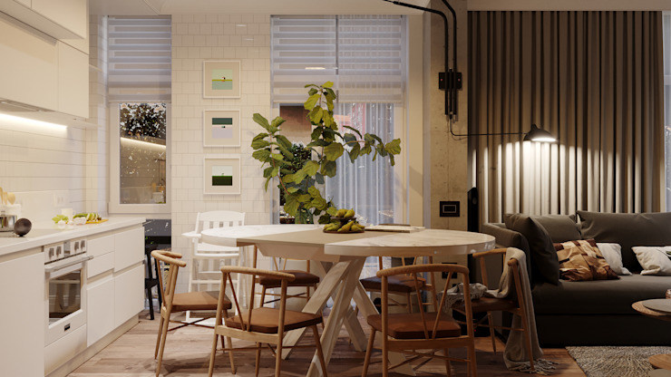 Scandinavian style dining room by Vashantsev Nik Scandinavian
