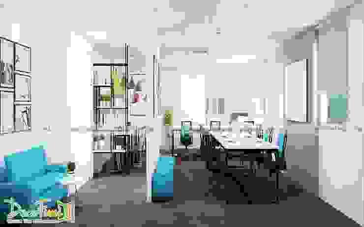 Văn phòng 50m2: hiện đại  by Công ty TNHH Funi, Hiện đại