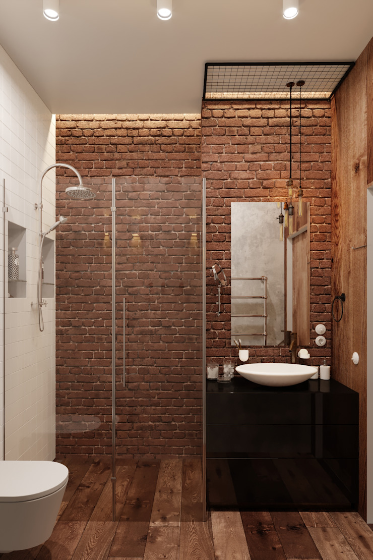 Industrial style bathroom by Vashantsev Nik Industrial