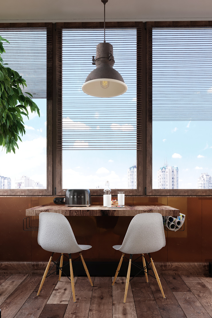 Industrial style dining room by Vashantsev Nik Industrial