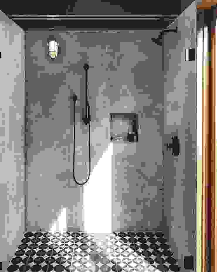 3BHK home in Mumbai Rustic style bathroom by Rebel Designs Rustic Tiles