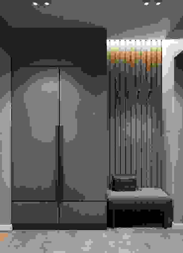 2bhk with open kitchen Modern corridor, hallway & stairs by Rebel Designs Modern Plywood