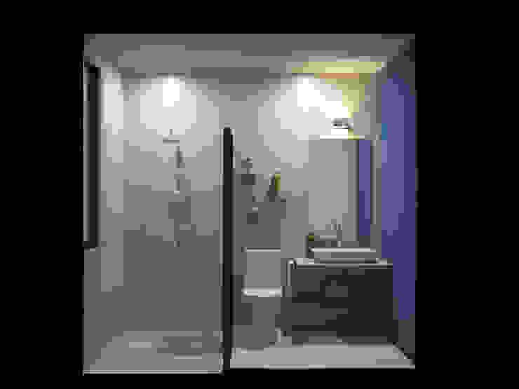 Casa CM Baños modernos de Punto Libre Arquitectura Moderno