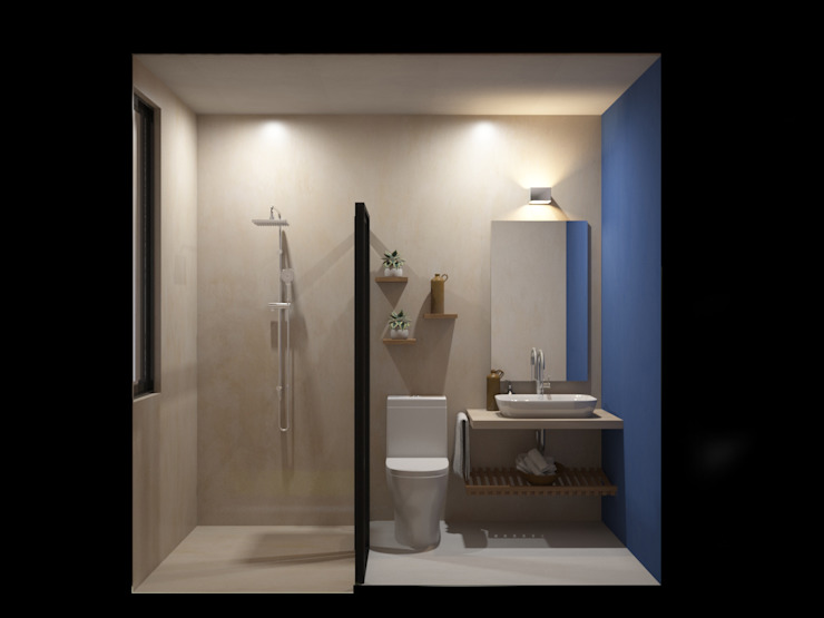 Punto Libre Arquitectura Modern Bathroom