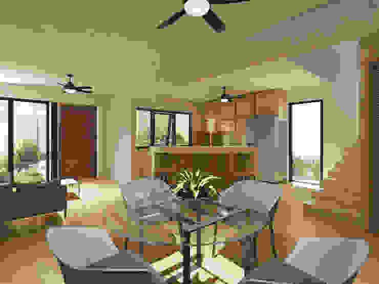 Punto Libre Arquitectura Modern Dining Room