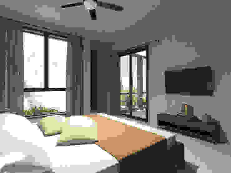 Punto Libre Arquitectura Modern Bedroom