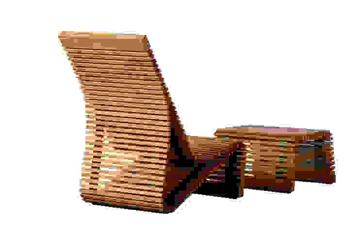 Stuhl mit Hocker : modern  von faktor holz,Modern