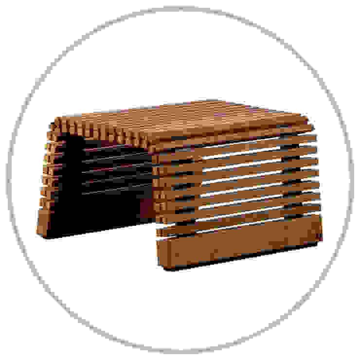 Hocker / Tischchen in Eiche : modern  von faktor holz,Modern