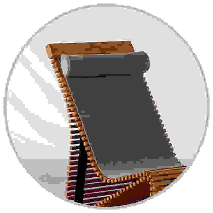 Stuhl mit Filzauflage und Nackenpolster: modern  von faktor holz,Modern