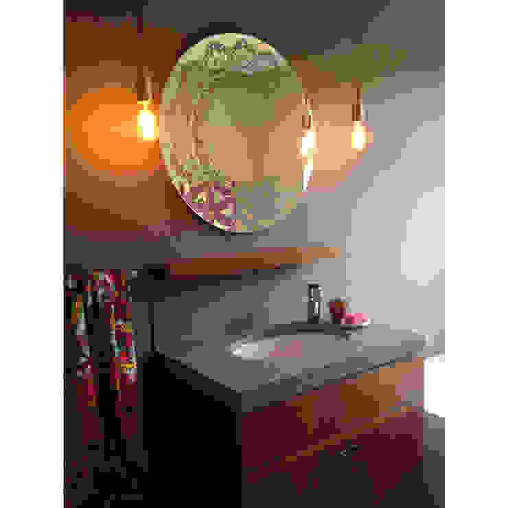 Vanity Modern bathroom by Turquoise Modern Wood Wood effect