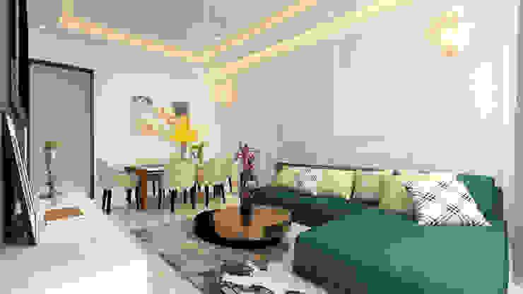 Living room , Trims on wall Modern living room by HC Designs Modern