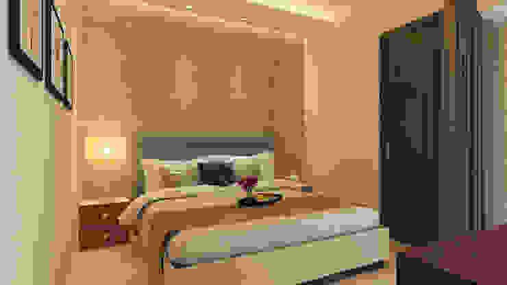 Guest Bedroom by HC Designs Modern MDF