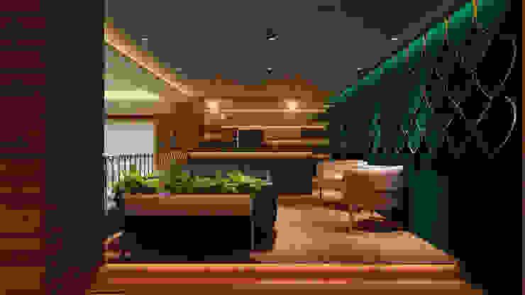 Private bar lounge Modern living room by HC Designs Modern MDF