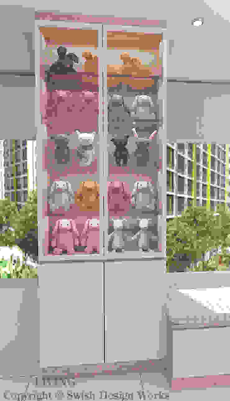 Display cabinet Modern living room by Swish Design Works Modern Plywood