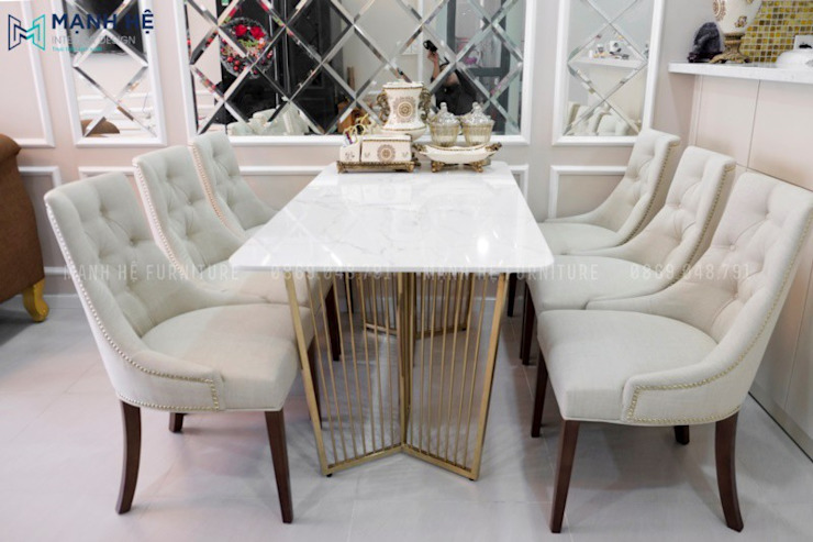 Classic style dining room by Công ty TNHH Nội Thất Mạnh Hệ Classic Marble